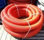 Труба защитная двустенная d160мм красная электротехническая