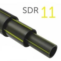 Труба полиэтиленовая ПНД газовая ПЭ-100 SDR11